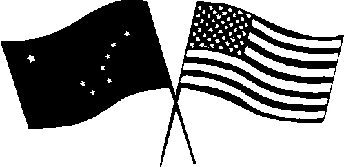 US & Alaska Flags01