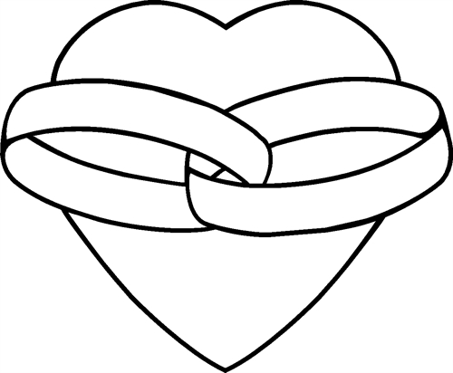 Heart with two rings
