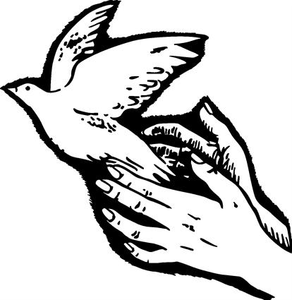 Hands loosening Dove
